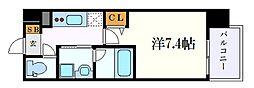 ヴィークブライト名古屋新栄 3階1Kの間取り