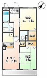 埼玉県上尾市大字小泉の賃貸マンションの間取り