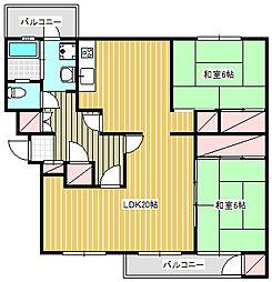 鎌倉グリーンハイツA−4号棟[201号室]の間取り