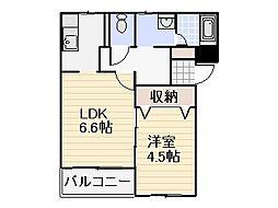 ロイヤルハウス[3階]の間取り
