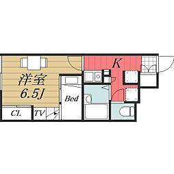 JR成田線 成田駅 バス15分 七栄三叉路下車 徒歩8分の賃貸アパート 1階1Kの間取り