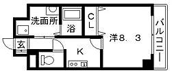 まねきやマンション[5階]の間取り