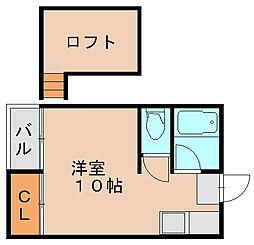 シティベール三番館[2階]の間取り