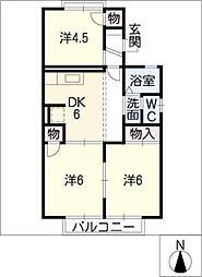 グリーンピア110C棟[1階]の間取り