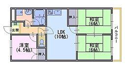 ニューシャトー長岡[1階]の間取り