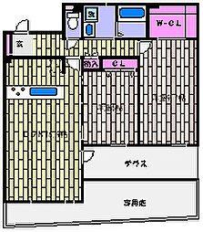 兵庫県神戸市東灘区住吉本町3丁目の賃貸マンションの間取り