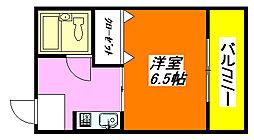 ピアリス・コサカ302号室[3階]の間取り