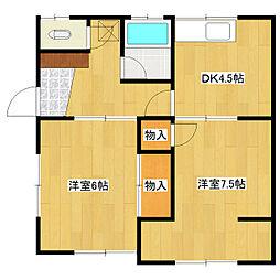 深見アパート[5号室]の間取り