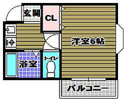エスポワール21[3階]の間取り