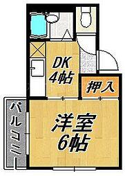 シャインハイツ大濠[3階]の間取り
