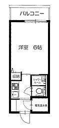 シャルマン赤坂[4階]の間取り