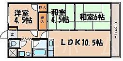 広島県広島市安芸区矢野東1丁目の賃貸マンションの間取り
