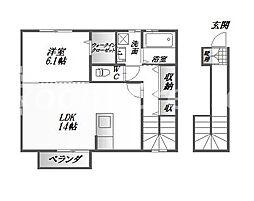 メーベル[2階]の間取り