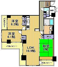 酉島リバーサイドヒルなぎさ街20号棟[7階]の間取り