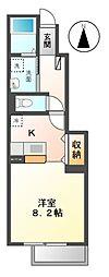 愛知県愛知郡東郷町大字和合字前田の賃貸アパートの間取り