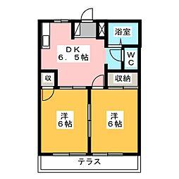 フレンドリータウン A棟[2階]の間取り