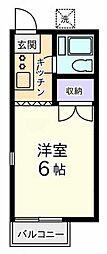 東京都国分寺市内藤2丁目の賃貸アパートの間取り