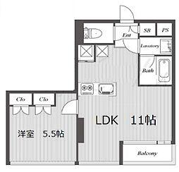 セイワ南堀江リバーレジデンスWEST 205号室[2階]の間取り