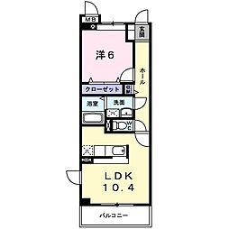ローレル[3階]の間取り