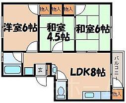 広島県広島市安芸区船越南3丁目の賃貸マンションの間取り