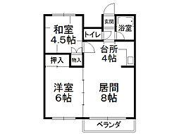 高田マンション(西18条)[202号室]の間取り