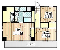 レジデンスYJ[6階]の間取り