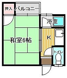 YMコーポ[203号室]の間取り