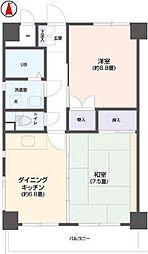 リビングステージ南仙台[7階]の間取り