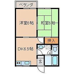 リポーズウィング秋田A[102号室]の間取り