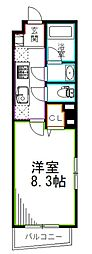 JR中央本線 西荻窪駅 徒歩6分の賃貸マンション 1階1Kの間取り
