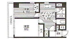 サンビューレカワサキ[301号室]の間取り