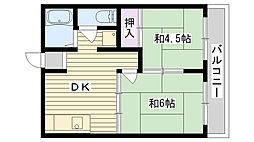 山本ハイツ(諸口)[B-204号室]の間取り