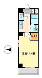 カーアズール(K Azur)[3階]の間取り