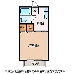 アメニティ横山[1階]の間取り