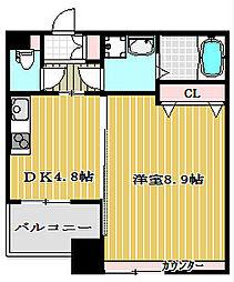ベルパーク靭本町[11階]の間取り