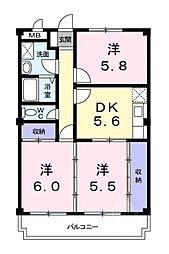 北野幌マンション[3階]の間取り