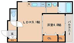 兵庫県神戸市兵庫区小河通3丁目の賃貸アパートの間取り
