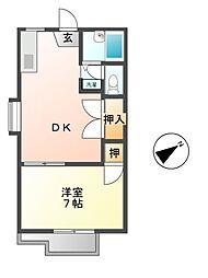 ハイツカジヤマ[2階]の間取り