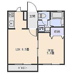 ステラハイツA[2階]の間取り