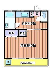 コーポルピナス[2階]の間取り