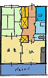 アルコレジデンス[302号室]の間取り