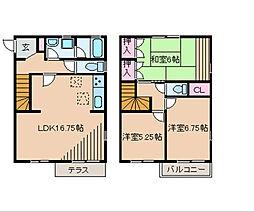 [テラスハウス] 神奈川県横浜市神奈川区西寺尾1丁目 の賃貸【/】の間取り