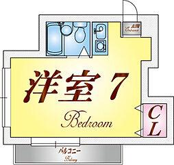 塩屋荘I[204号室]の間取り