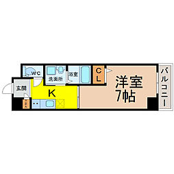 愛知県名古屋市中村区畑江通5丁目の賃貸マンションの間取り