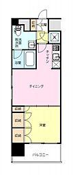 神奈川県横浜市中区黄金町1丁目の賃貸マンションの間取り