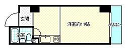 チサンマンション連尺[4階]の間取り