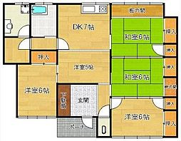 [一戸建] 福岡県久留米市津福今町 の賃貸【/】の間取り