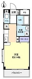 フラワー5号館[3階]の間取り