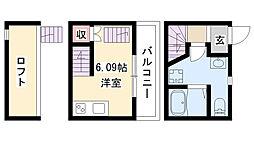 愛知県名古屋市南区鶴田2の賃貸アパートの間取り