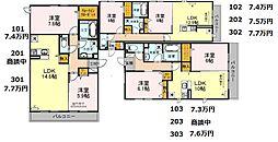 (仮称)D-room軽里[2階]の間取り